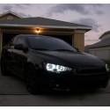Матовые ангельские глазки (Cotton LED) Mitsubishi Lancer X