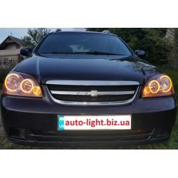 Двухцветные светодиодные ангельские глазки (Turn light led angel eyes) Chevrolet Lacetti