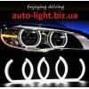 Двухцветные светодиодные ангельские глазки (Turn light crystal led angel eyes) BMW F13 F30 F35