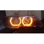 Двухцветные светодиодные ангельские глазки (Turn light crystal led angel eyes) BMW E46 E90 E92