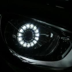 Биксеноновые линзы G5 LOTUS LED (2.5 дюйма) c ангельскими глазками