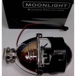 Биксеноновые линзы Moonlight G5 (2.5 дюйма) с ангельскими глазками